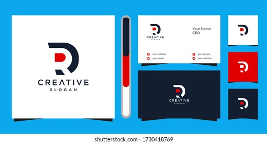 letter RD logo design vector and business card