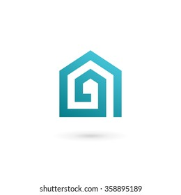 Letter A real estate house logo icon design template elements