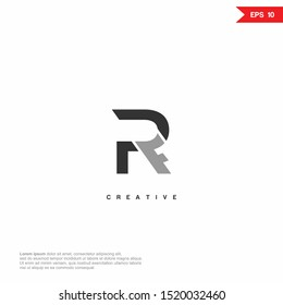Letter RF abstract Logo icon design. Premium Line Alphabet Monochrome Monogram emblem. Vector graphic design template element. Graphic Symbol for Corporate Business Identity. eps10