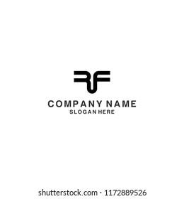 Letter RF logo design