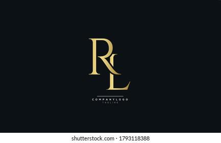 Letter RL Business Logo Design Alphabet Icon Vector Symbol