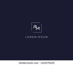 letter RM logo design element