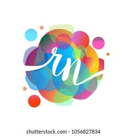 Rn images stock photos vectors shutterstock letter rn logo with colorful splash background letter combination logo design for creative industry altavistaventures Images