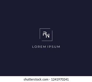 letter RN logo design element