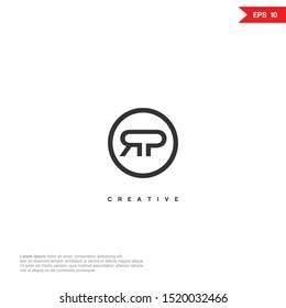 Letter RP Logo icon design. Premium Line Alphabet Monochrome Monogram emblem. Vector graphic design template element. Graphic Symbol for Corporate Business Identity. eps10