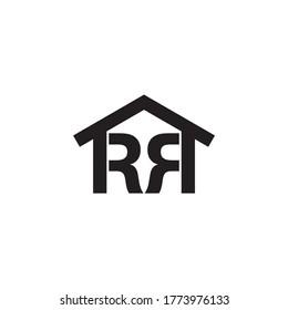 letter RR logo home design concept