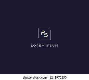 letter RS logo design element