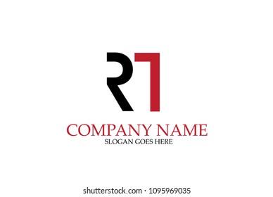 Letter RT Logo Design Vector.