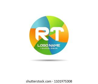 Letter RT Modern Shape Logo Design Template Element