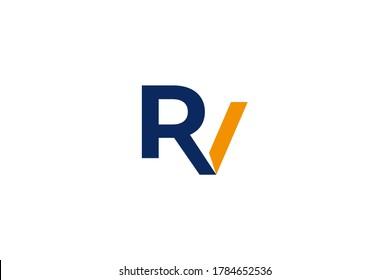 Letter RV logo . abstract letter RV logo design . vector illustration