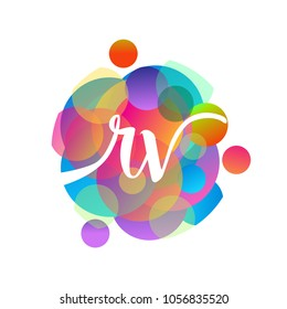 Letter RV logo with colorful splash background, letter combination logo design for creative industry, web, business and company.