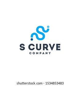 Letter S Abstract Logo, Alphabet Curve Design Logo, Line Company Logo vector