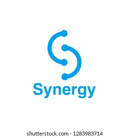 Letter S Connection Logo. Technology Company Logo with Connected Concept. Symbol of Solution and Relationship. Letter Icon for Business.