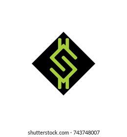 letter s dollar symbol logo vector