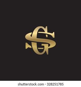 letter S and G monogram golden logo