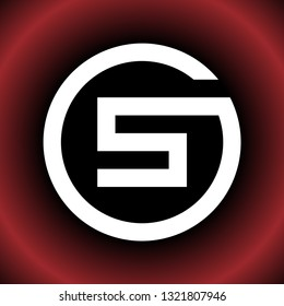 letter S GS SG SC CS SO OS vector logo design circle mode