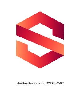 Letter S Hexagon Logo