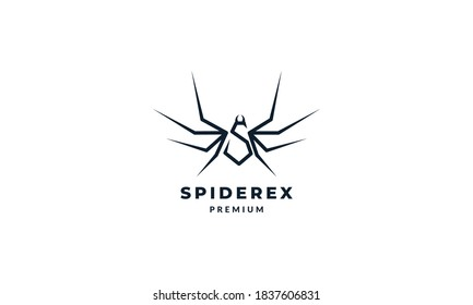 Letter S or Initial S for spider  logo vector icon illustration design