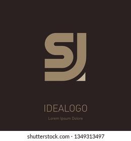 Letter S and J logo design. Minimal monogram symbol. Premium business logotype. SJ - Elegant universal vector sign. Graphic symbol for corporate business identity.