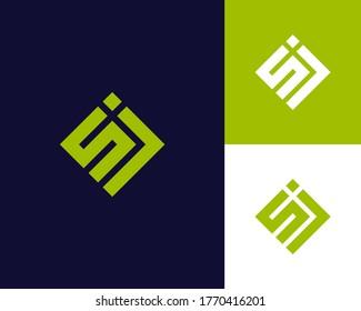 Letter S J logo design. creative minimal monochrome monogram symbol. Universal elegant vector emblem. Premium business logotype. Graphic alphabet symbol for corporate identity