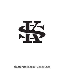 letter S and K monogram logo