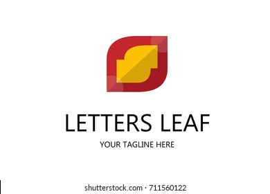 letter s and leaf logo