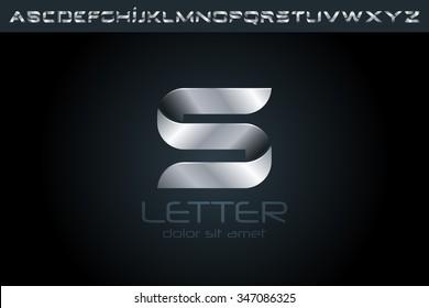 Letter S Logo, alphabet logo design.