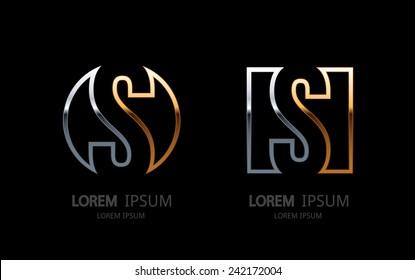 Letter S logo. Alphabet logotype vector design.