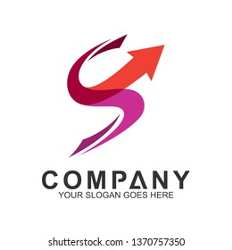 letter s logo with arrow shape