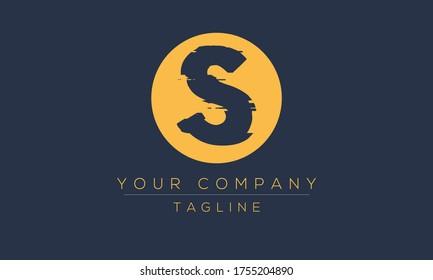 Letter S Logo Design, Distorted Vector S