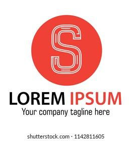 Letter S logo design template