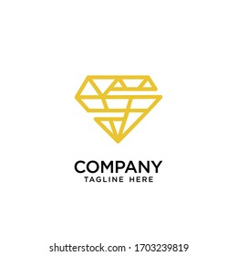 letter s logo and diamond design vector