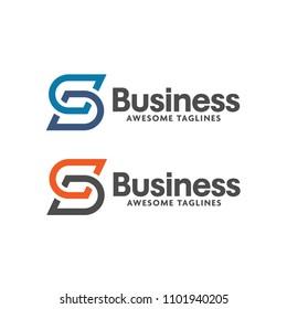 Letter S logo icon design template elements,  letter sd logo vector