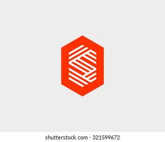 Letter S logo icon vector design. Creative line symbol.