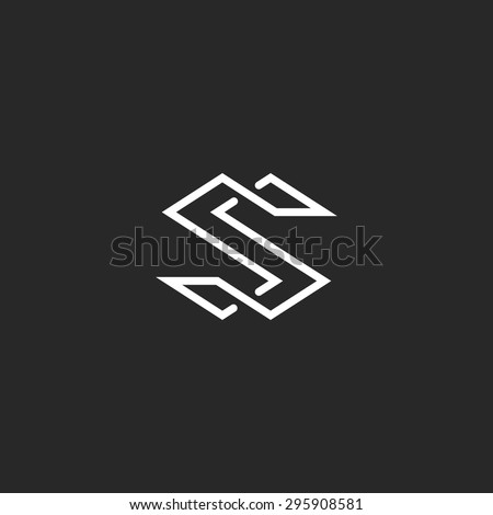 Letter S Logo Monogram Modern Symbol Stockvector Rechtenvrij