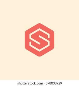Letter S logo / symbol - vector icon