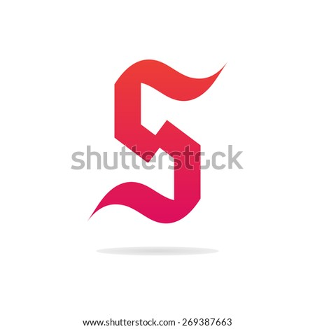 letter s logo template gothic letter stock vector royalty free