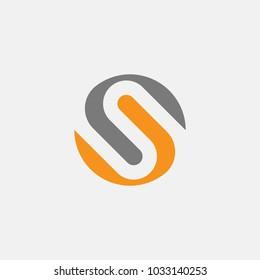 letter S logo template. Vector alphabet