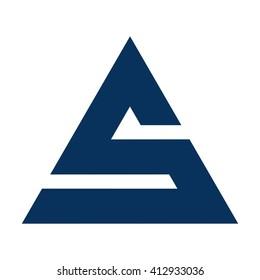 letter s logo vector.