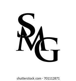letter S, M, and G vector logo.