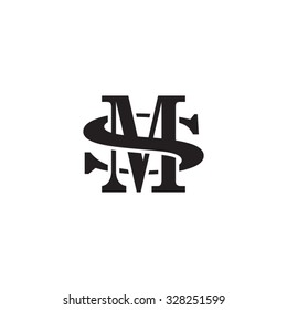 letter S and M monogram logo