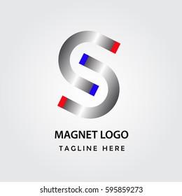 Letter s magnet logo