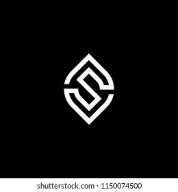 Letter S monogram initial logo design vector