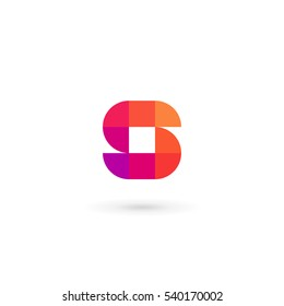 Letter S mosaic logo icon design template elements