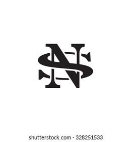 letter S and N monogram logo