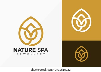 Letter S Nature Spa Logo Vector Design. Abstract emblem, designs concept, logos, logotype element for template.