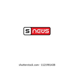 Letter S News Logo Design Template