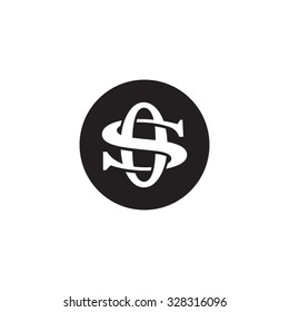 letter S and O monogram circle logo
