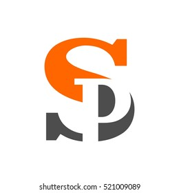 letter S and P logo vector.