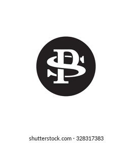 letter S and P monogram circle logo